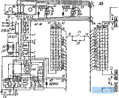 электрическая схема магнитофона