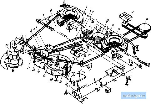 принципиальная схема магнитофона союз 110